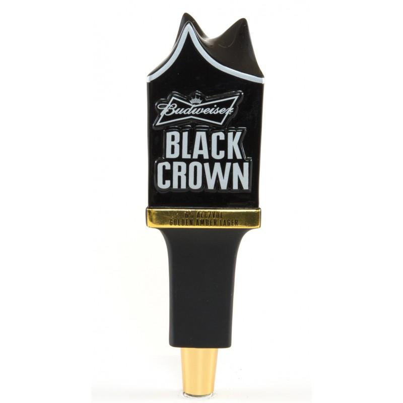 Budweiser Black Crown Tap Handle