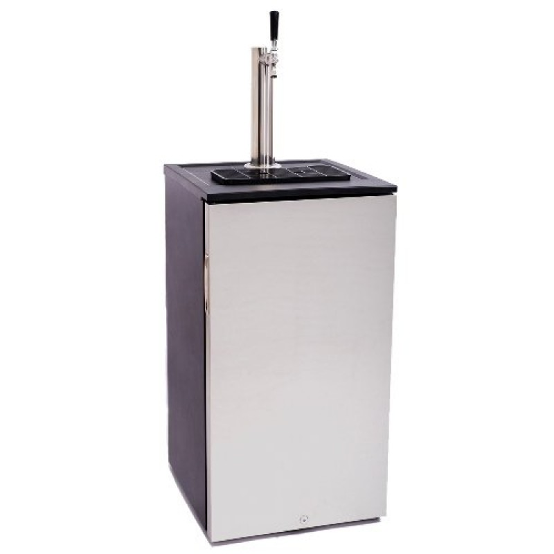 edgestar 5 gallon craft brew kegerator with ball lock